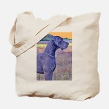 Great Dane Blue Art Scene Tote Bag