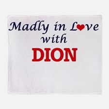 Madly in love with Dion Throw Blanket