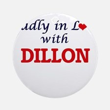 Madly in love with Dillon Round Ornament