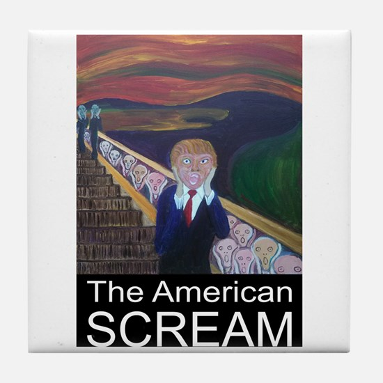 The American Scream Tile Coaster