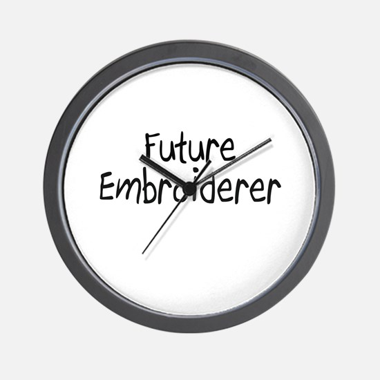 Future Embroiderer Wall Clock