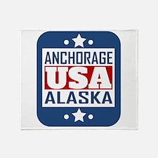 Anchorage Alaska USA Throw Blanket