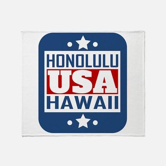 Honolulu Hawaii USA Throw Blanket