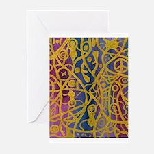 Goddess Spiderweb Paintin Greeting Cards