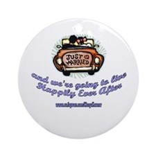 JUST MARRIED 1 Ornament (Round)