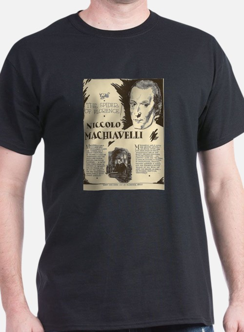 Niccolo Machiavelli Mini Biography T-Shirt
