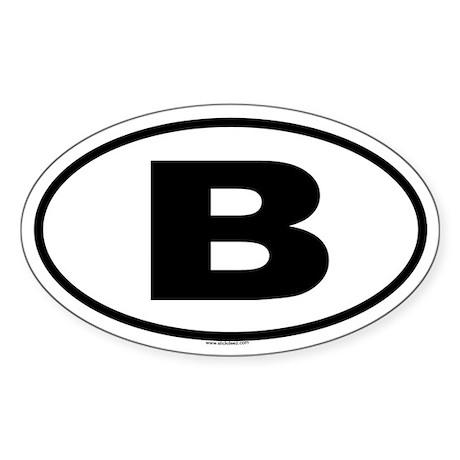 B Oval Sticker