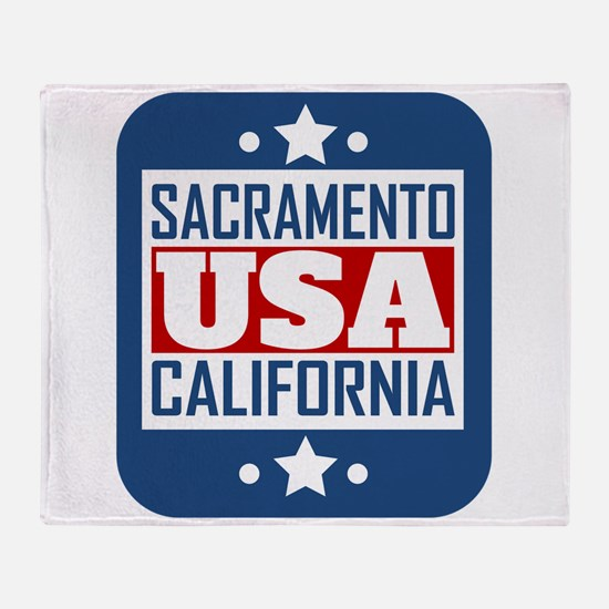 Sacramento California USA Throw Blanket