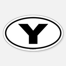 Y Oval Decal
