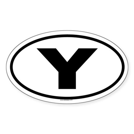 Y Oval Sticker