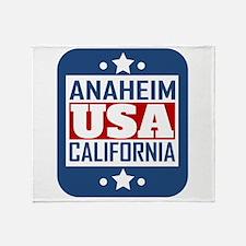 Anaheim California USA Throw Blanket
