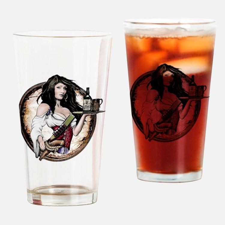Cute Buccaneer girls Drinking Glass