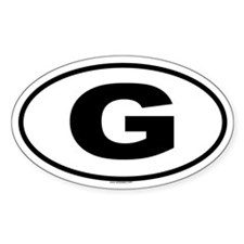 G Oval Decal