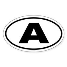 A Oval Decal