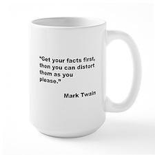 Mark Twain Quote on Fact Distortion Mug