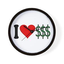 I Love Money (design) Wall Clock