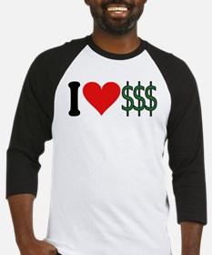 I Love Money (design) Baseball Jersey