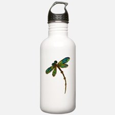 Electric Green Gold Dr Sports Water Bottle