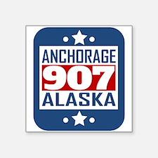 907 Anchorage AK Area Code Sticker