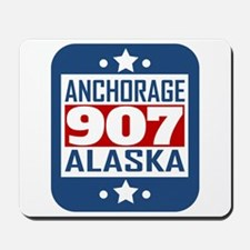 907 Anchorage AK Area Code Mousepad