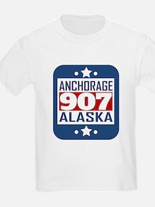 907 Anchorage AK Area Code T-Shirt