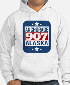 907 Anchorage AK Area Code Hoodie