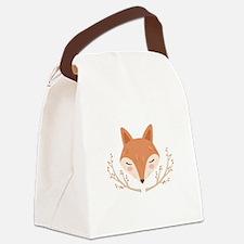 Fox Face Canvas Lunch Bag