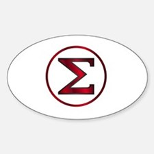 Funny Greek letters symbols Decal
