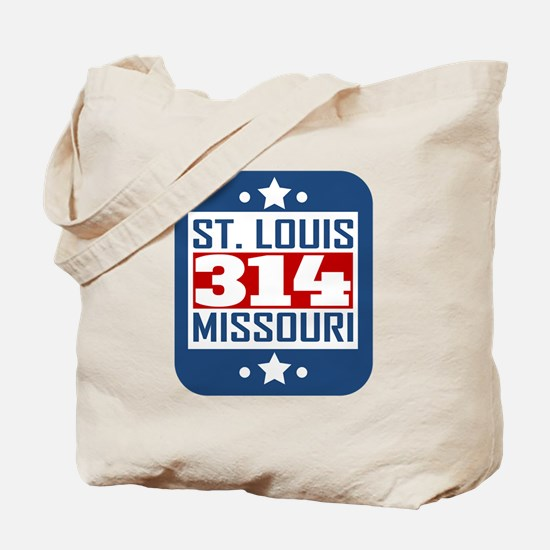 314 St Louis MO Area Code Tote Bag