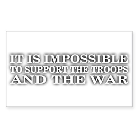 Support The Troops Rectangle Sticker