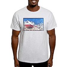 Shrine in Winter Ash Grey T-Shirt