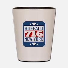 716 Buffalo NY Area Code Shot Glass