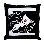 Ruby Lips Throw Pillow