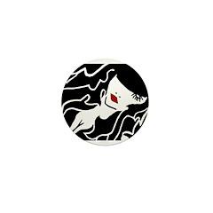 Ruby Lips Mini Button
