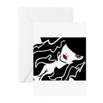 Ruby Lips Greeting Cards (Pk of 10)