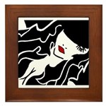 Ruby Lips Framed Tile