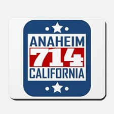 714 Anaheim CA Area Code Mousepad