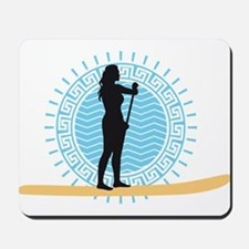 stand up paddling Mousepad
