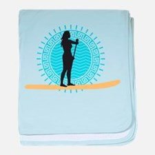 stand up paddling baby blanket
