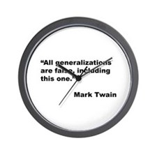 Mark Twain Quote on False Generalizations Wall Clo