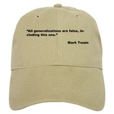 Mark Twain Quote on False Generalizations Baseball Cap