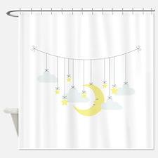 Moon & Stars Mobile Shower Curtain