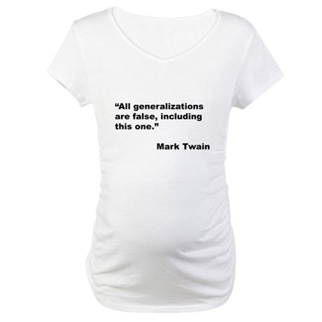 Mark Twain Quote on False Generalizations (Front)