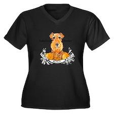 Lakeland Terrier Dog Banner Women's Plus Size V-Ne