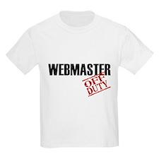 Off Duty Webmaster T-Shirt
