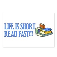 Life is Short, Read Fast Postcards (Package of 8)