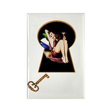 Keyhole Cuties #3 - Rectangle Magnet