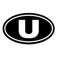 U Oval Decal