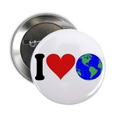 "I Love Earth (design) 2.25"" Button (10 pack)"