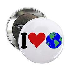 """I Love Earth (design) 2.25"""" Button"""